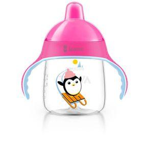 copo-pinguim-260ml-rosa---personalizado