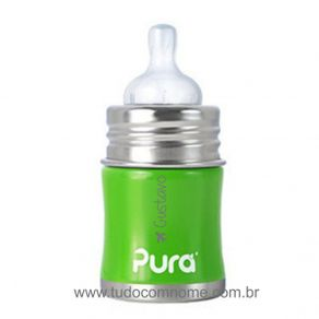 Mamadeira-Inox-PuraKiki-150ml---Verde---Personalizado--2-