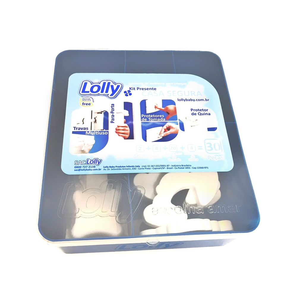 Caixa com Conjunto de Protetores para Diversos Usos - Lolly - 30 Unidades -  Branco 72548545702