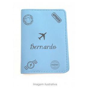 Capa-para-Porta-Passaporte---Azul---Personalizado-com-Nome