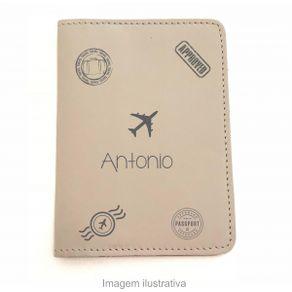 Capa-para-Porta-Passaporte---Bege---Personalizado-com-Nome