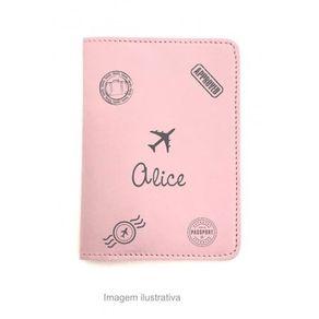 Capa-para-Porta-Passaporte---Rosa---Personalizado-com-Nome