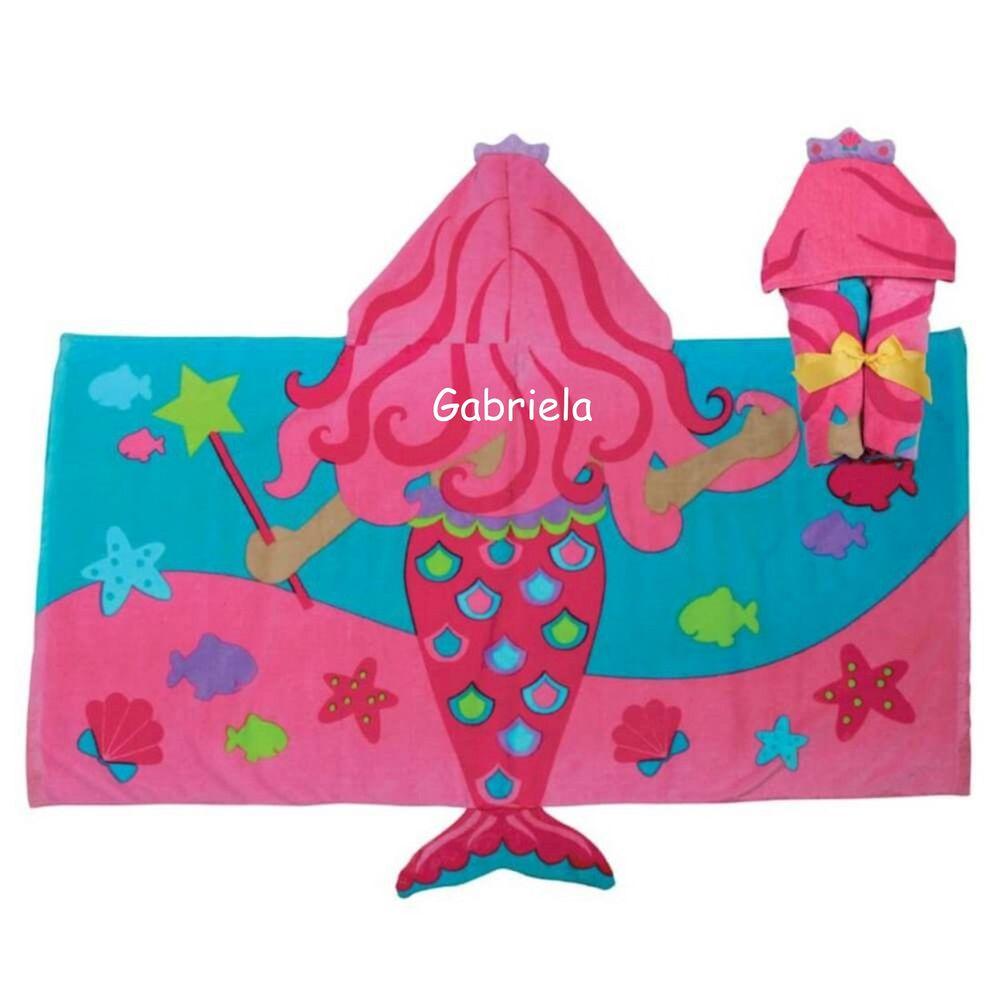 c0b50c07bf Toalha de Banho Sereia Stephen Joseph - 2 á 8 anos - Personalizado com Nome