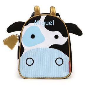 Lancheira-Zoo-Vaca---Personalizado-com-nome